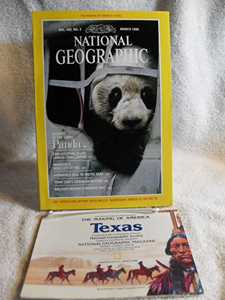 NATIONAL GEOGRAPHIC MAGAZINE MARCH 1986 GIANT PANDA MOROCCO MAP OF TEXAS