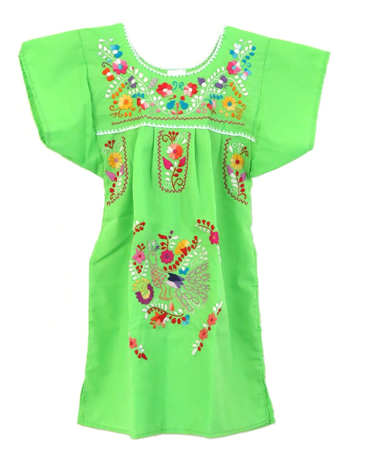 5bdb514ffd3e96 Top1  Ethnic Identity Embroidered Mexican Youth Girl Dress by