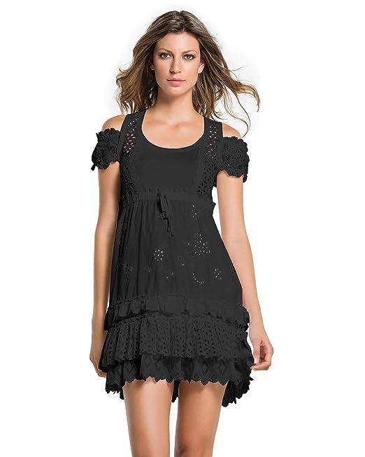 25545fb62372 Agua bendita Bendito negro Florencia vestido: Amazon.es: Ropa y ...