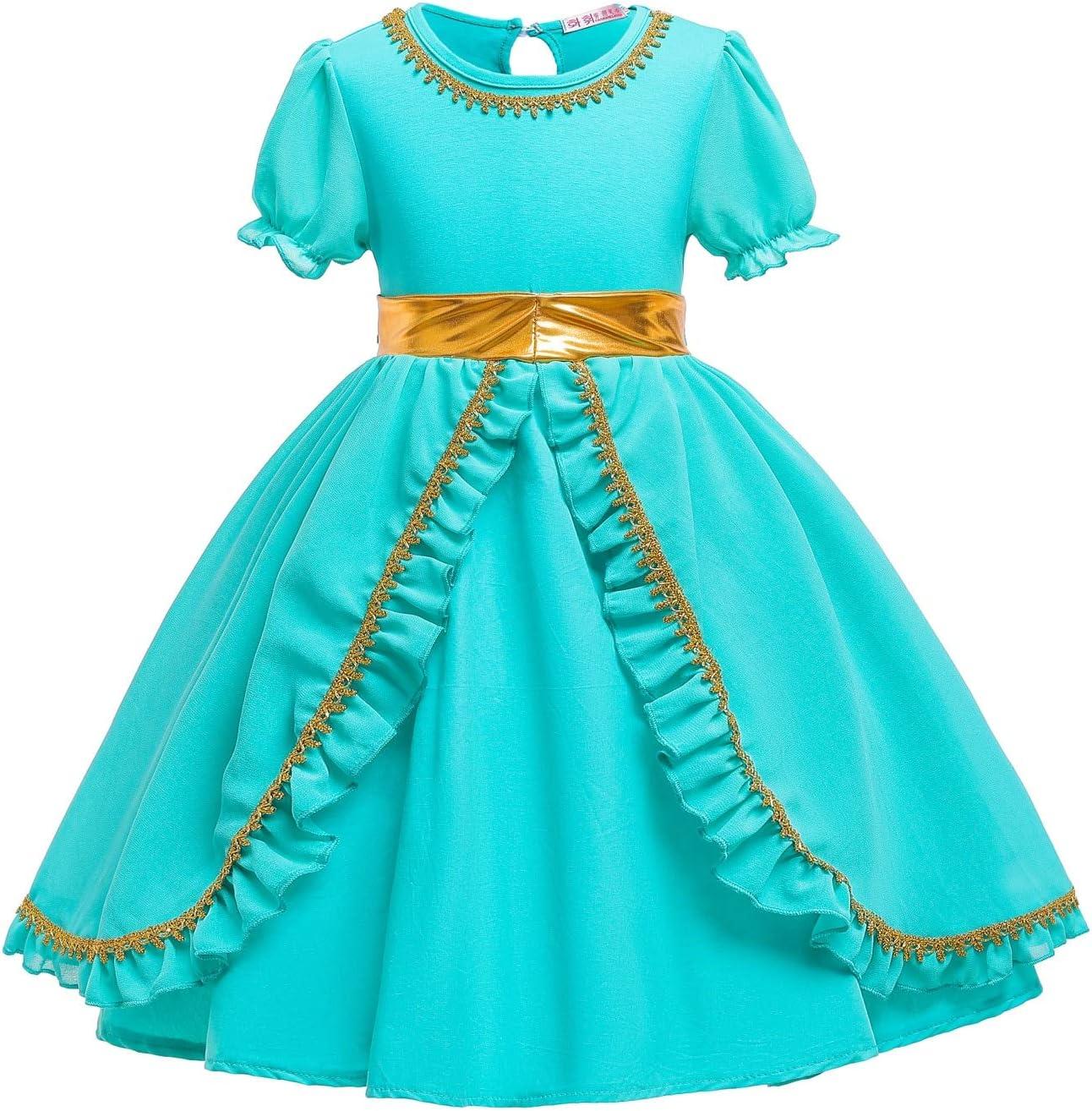 Vestido de princesa de jazmín para niños BCOGG Lámpara mágica de ...