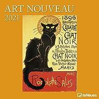 Art Nouveau 2021 - Wand-Kalender - Broschüren-Kalender - 30x30 - 30x60 geöffnet - Kunst-Kalender