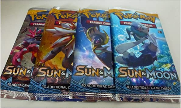 Pokemon TCG Sun & Moon Booster Packs x4 Packs (Pokemon) [importación inglesa]: Amazon.es: Videojuegos