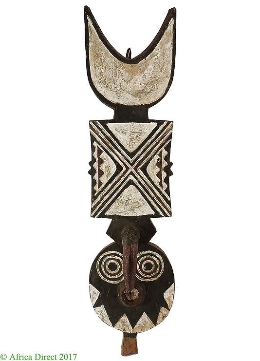 Puntal Bwa máscara nwantantay Burkina Faso arte africano 33 inch ...