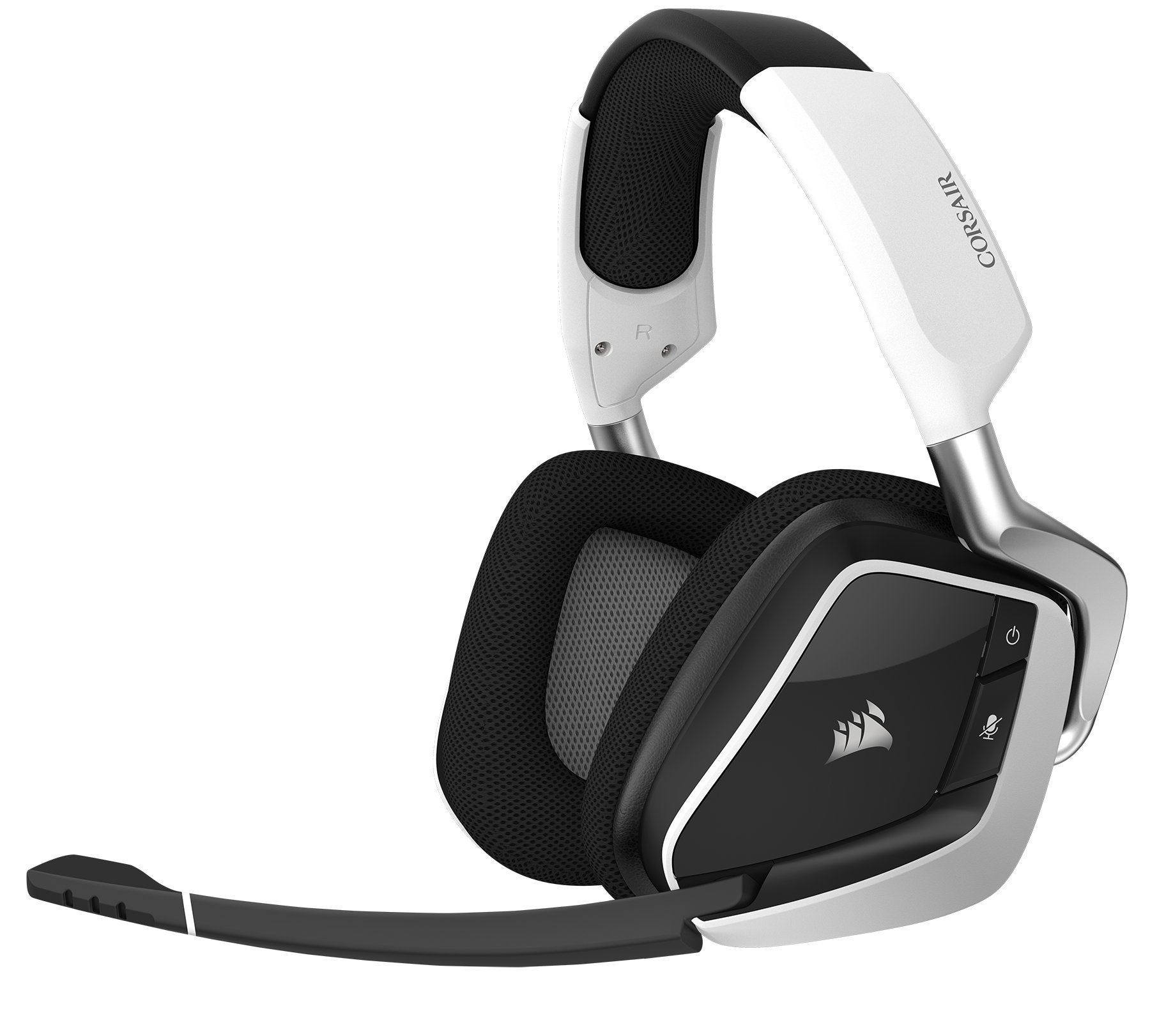 CORSAIR VOID PRO RGB Wireless Gaming Headset - Dolby 7.1 Surround Sound Headphones for PC - Discord - 50mm Drivers - White (Renewed) by Corsair