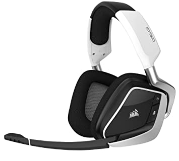 CORSAIR VOID PRO RGB Wireless Gaming Headset - Dolby 7 1 Surround Sound  Headphones for PC - Discord - 50mm Drivers - White (Renewed)