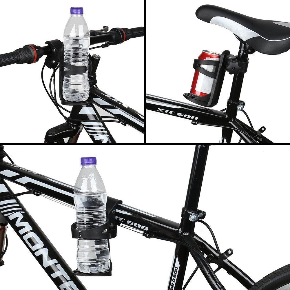 Bicicleta Portavasos, Calibre grande diseñado Jaulas de botellas de agua Rotación de 360 grados Paseante Posavasos para bicicletas, bicicletas de montaña, ...