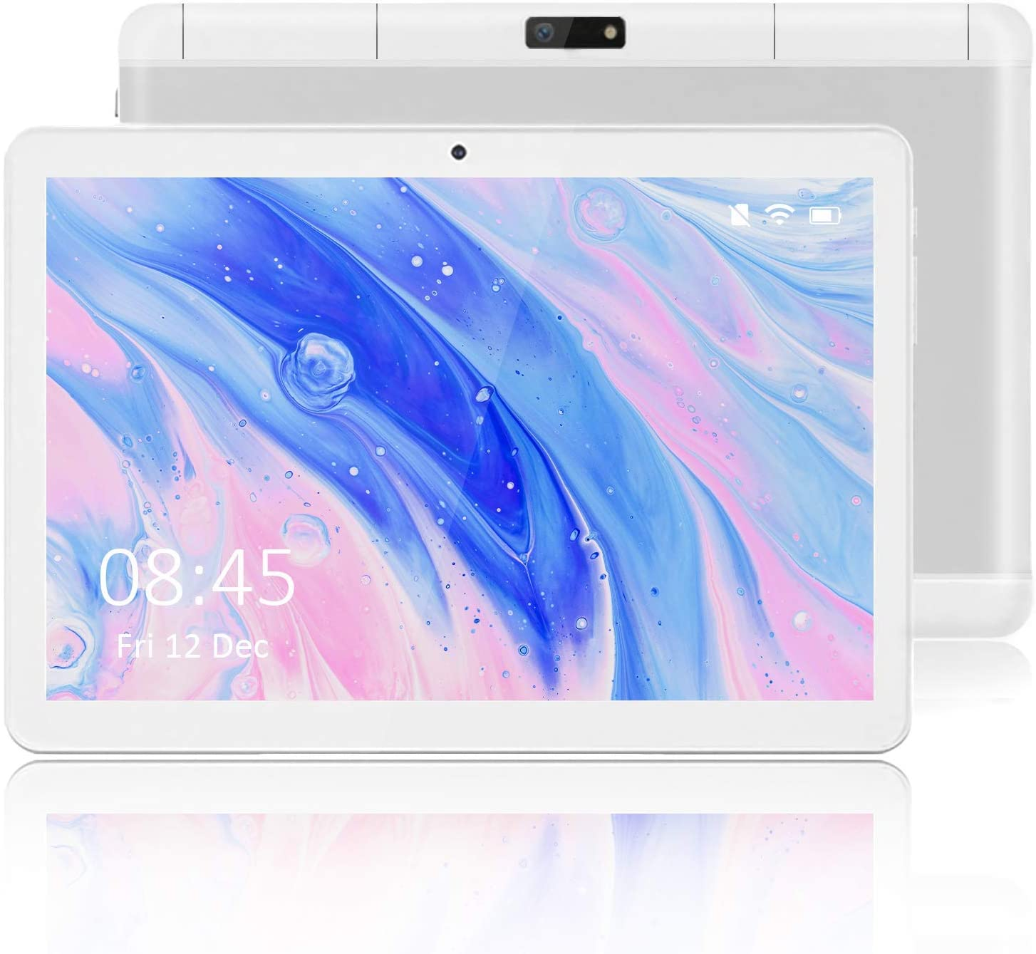 Tablet 10 Inch with 3G Android 10.0 OS (Google GMS Certified), 2GB RAM, 32GB ROM, Wi-Fi, Bluetooth, Dual Camera, IPS HD Display, GPS, FM – Silver