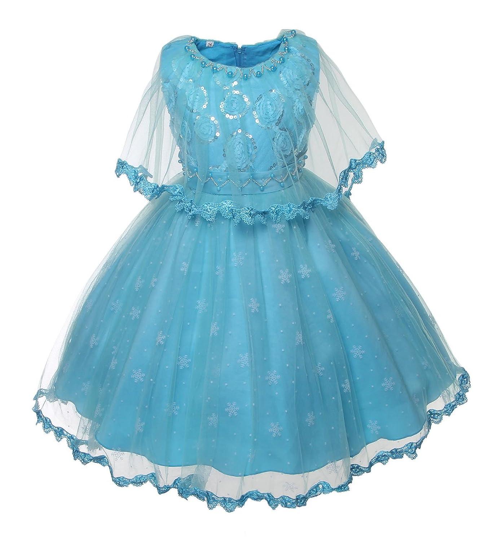 Amazon New Kid Flower Girl Pageant Wedding Cosplay Frozen Elsa
