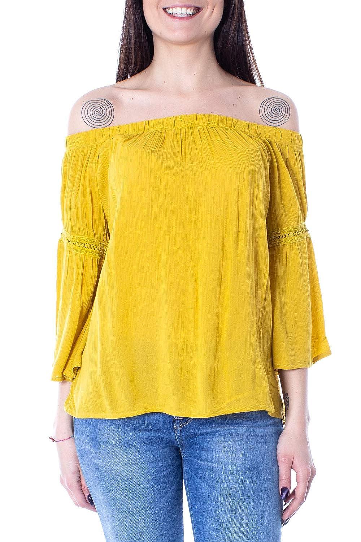 Jacqueline de Yong Woman t-Shirt Long Sleeve June 3//4 Offshoulder lace top WVN 15173791