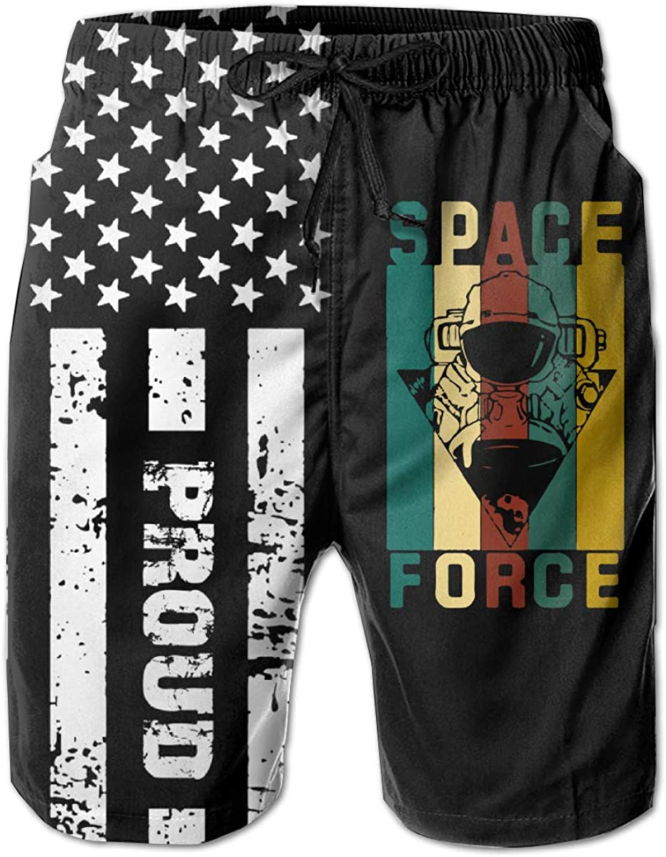 United States Space Force Mens Holiday Party Bathing Suit for Men Boys