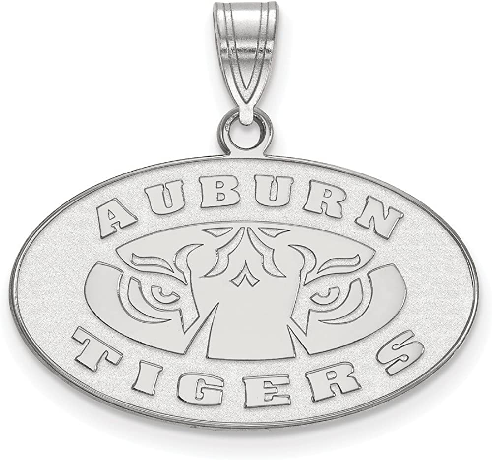 Solid 925 Sterling Silver Official Auburn University Medium Pendant Charm 22mm x 25mm
