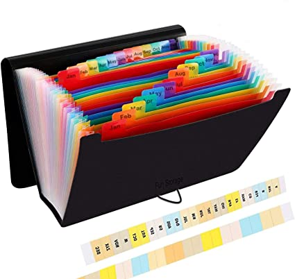 Carpeta Clasificadora, Carpeta A4 Plastico Extensible Archivador, Organizadora Clasificador Carpeta Acordeon para Documentos: Amazon.es: Oficina y papelería