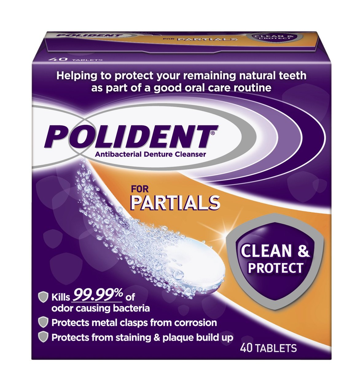 Polident Polident Partials Denture Cleanser, 40 Count 03310