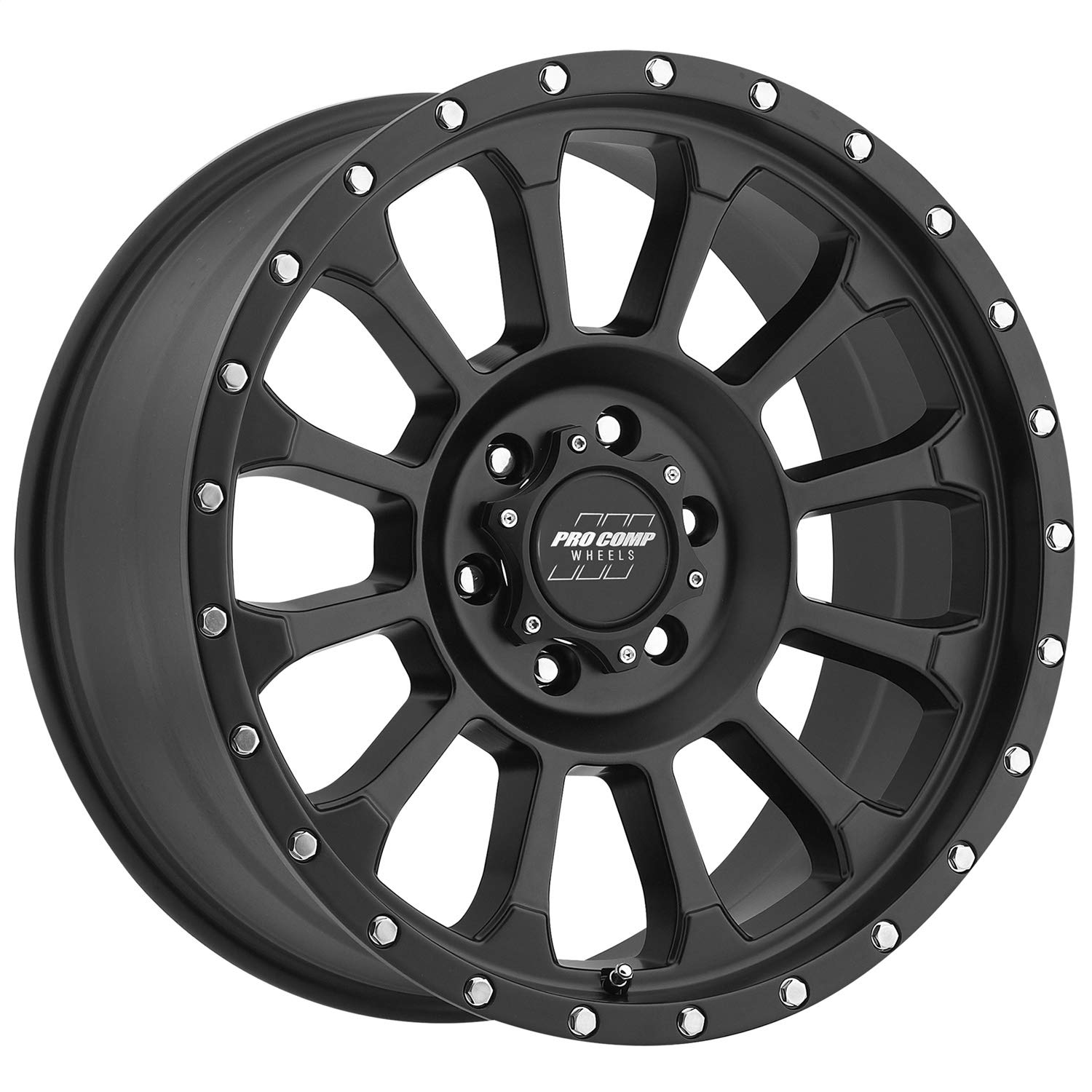 Pro Comp Alloys Series 34 Rockwell Wheel with Satin Black Finish 17x8.5//6x135mm