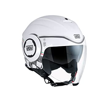 AGV Casco Moto Fluid E2205 Multi, Garda White/Italy, XL