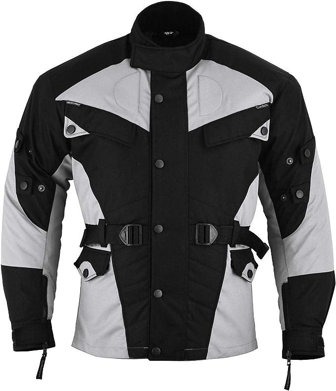 German Wear Motorradjacke Textilien Schwarz//Hellgrau XS
