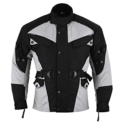 German Wear GW302J - Chaqueta de moto, negro/gris claro, L: Amazon ...