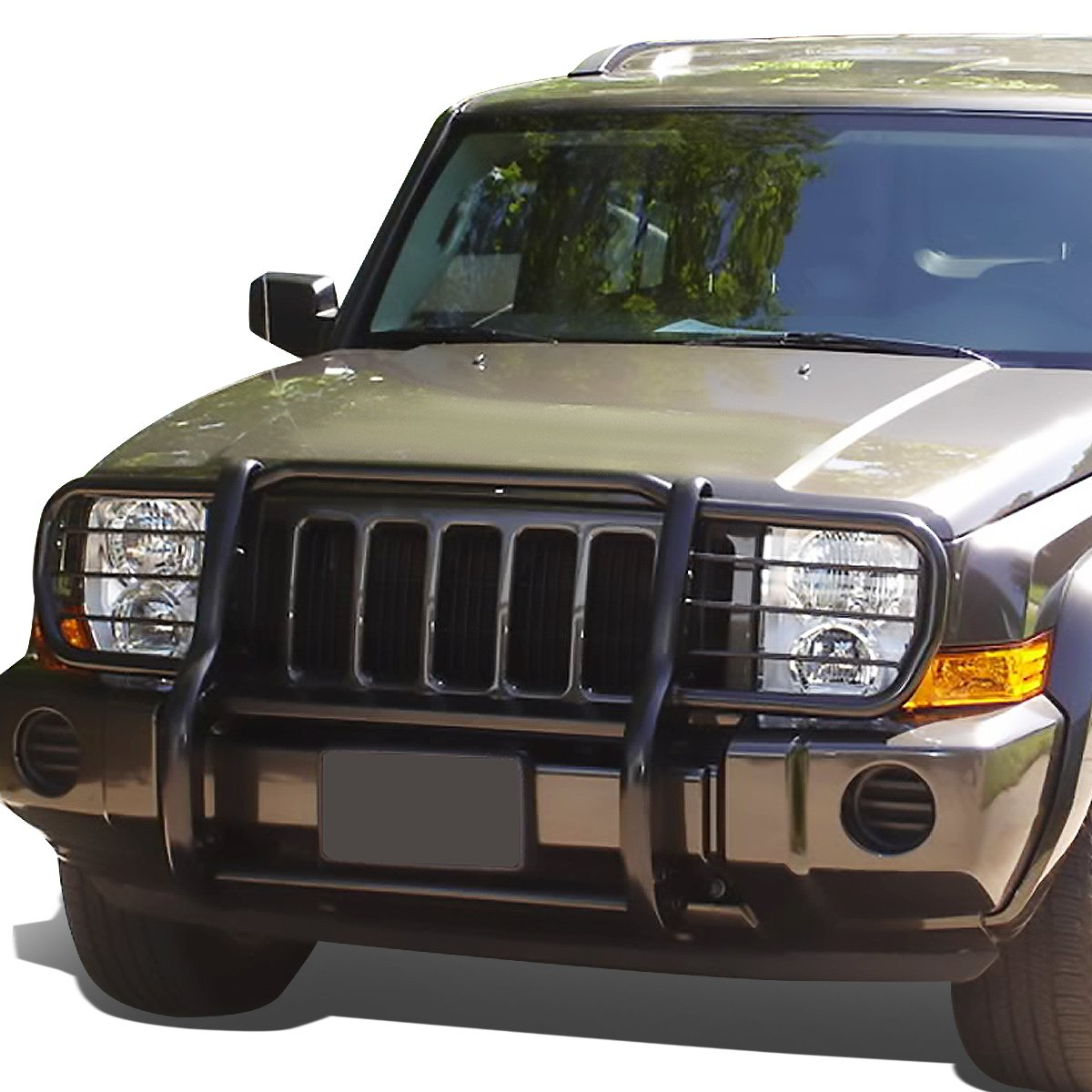Black For Jeep Commander XK Front Bumper Protector Brush Grille Guard
