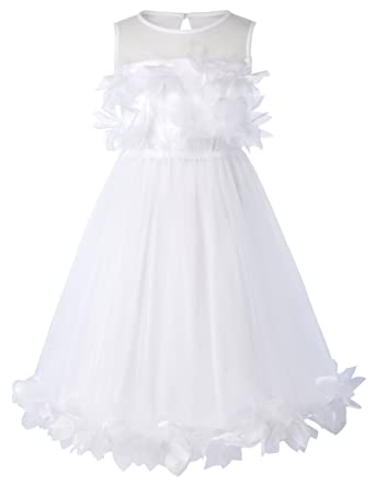 b2d226fc30f4 Amazon.com  GRACE KARIN Tulle Flower Princess Wedding Dresses for ...