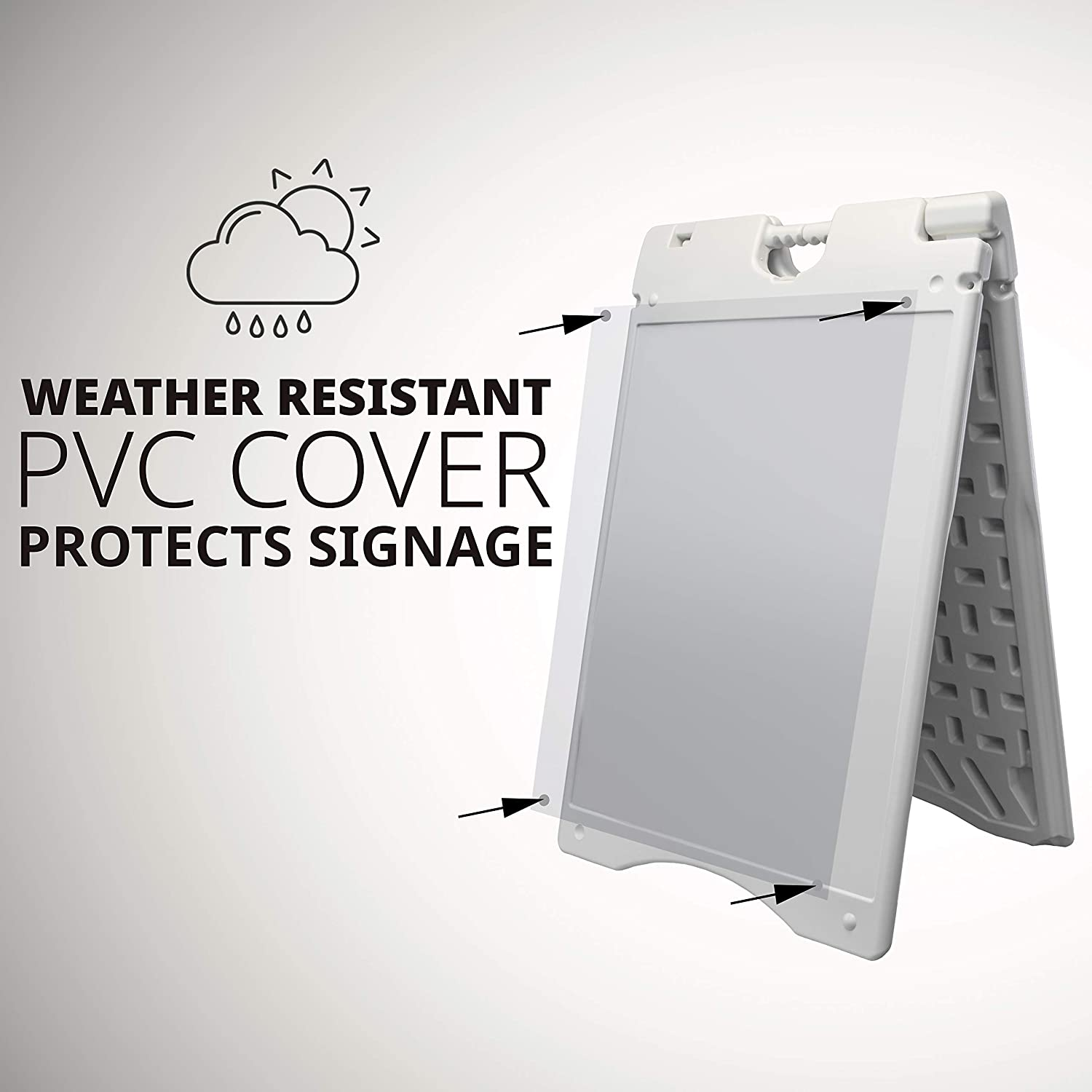 Durable Weatherproof Jumbl A-Frame Signboard Foldable with Nonslip Base for Outdoor Sidewalk Signage Use Front /& Back for Duel Display Surfaces JUMCHH580