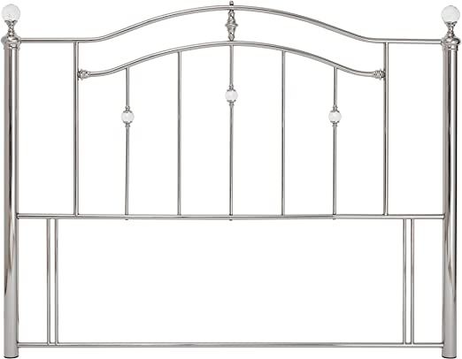 Serene Furnishings Ltd Ashley Metal cabecero, Metal, Plateado, 135 cm
