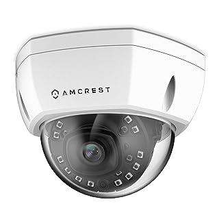 Amcrest UltraHD Outdoor 4-Megapixel Vandal Dome IP Security PoE Camera - MicroSD Storage, IP67 Weatherproof, IK10 Vandal-Proof, 4MP (2688 TVL), IP4M-1028E (White)