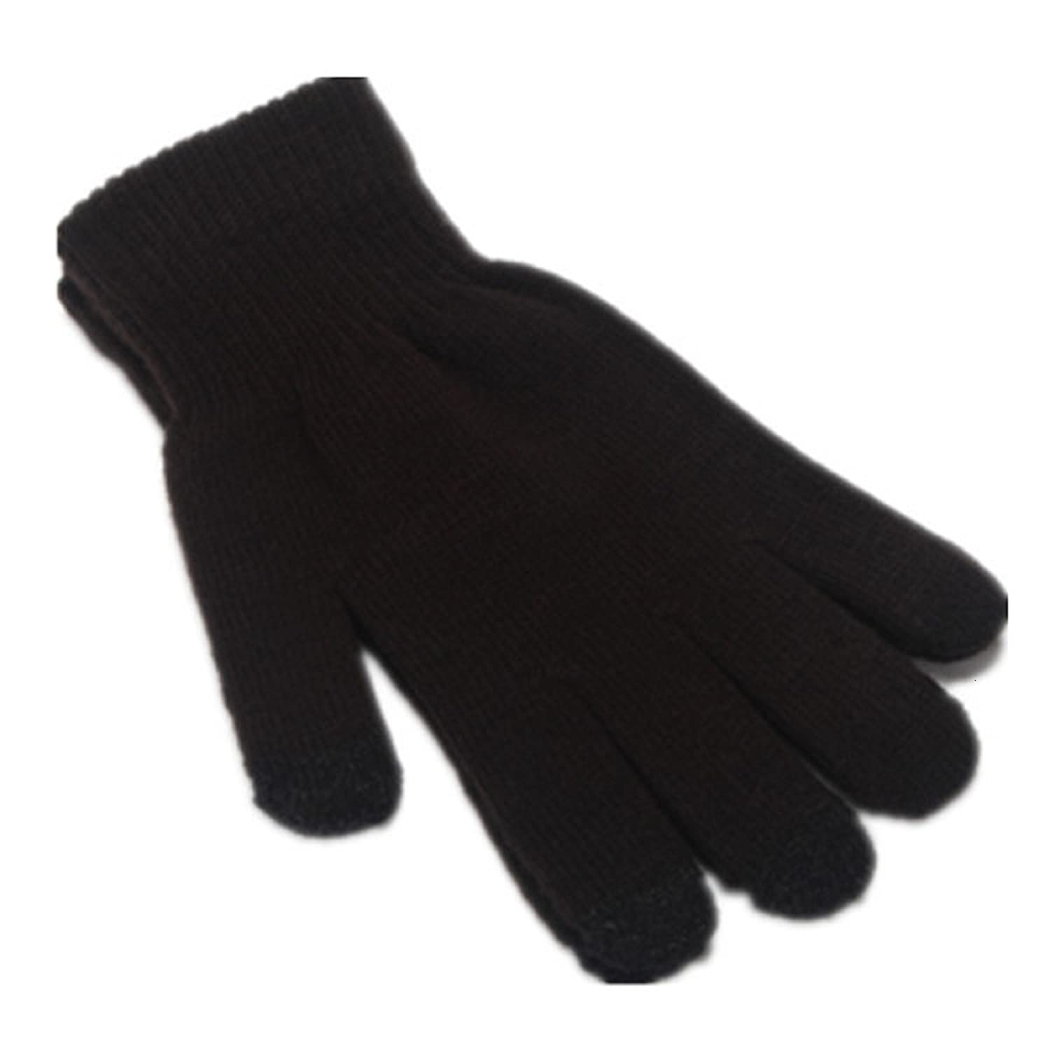 Warm Knitted Stretch touchscreen//texting winter gloves with a soft texture ITS RIDIC Black Just thick enough to not be bulky