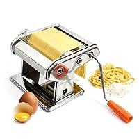 Goods & Gadgets Nudelmaschine aus Edelstahl Pastamaker Pastamaschine; Die Nudel Maschine für Frische Pasta