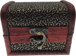 JCECWIBS Wooden Jewelry Box Women Small,Indian Decorative Box Items for Home,Wood Japanese Jewelry Box,cajas De Madera para Decoracion,Wooden Keepsake Box, Rosary Box Antique Decor Box(Claw Pattern)