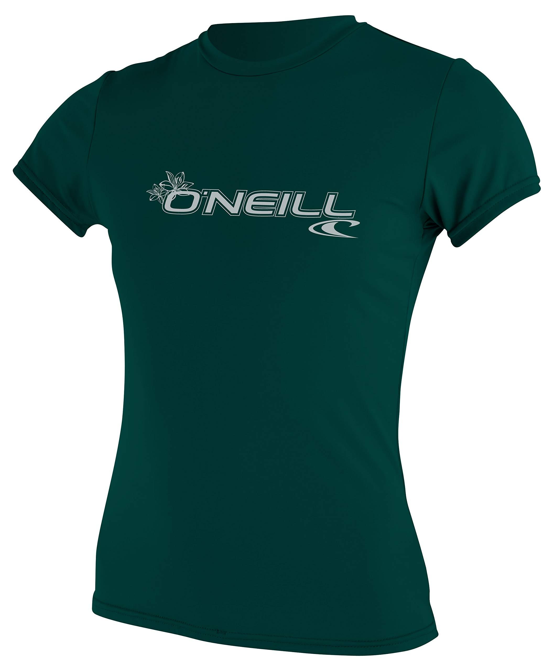 O'Neill Women Basic Upf50+ S/S Tops, Deep Green, S by O'Neill Wetsuits