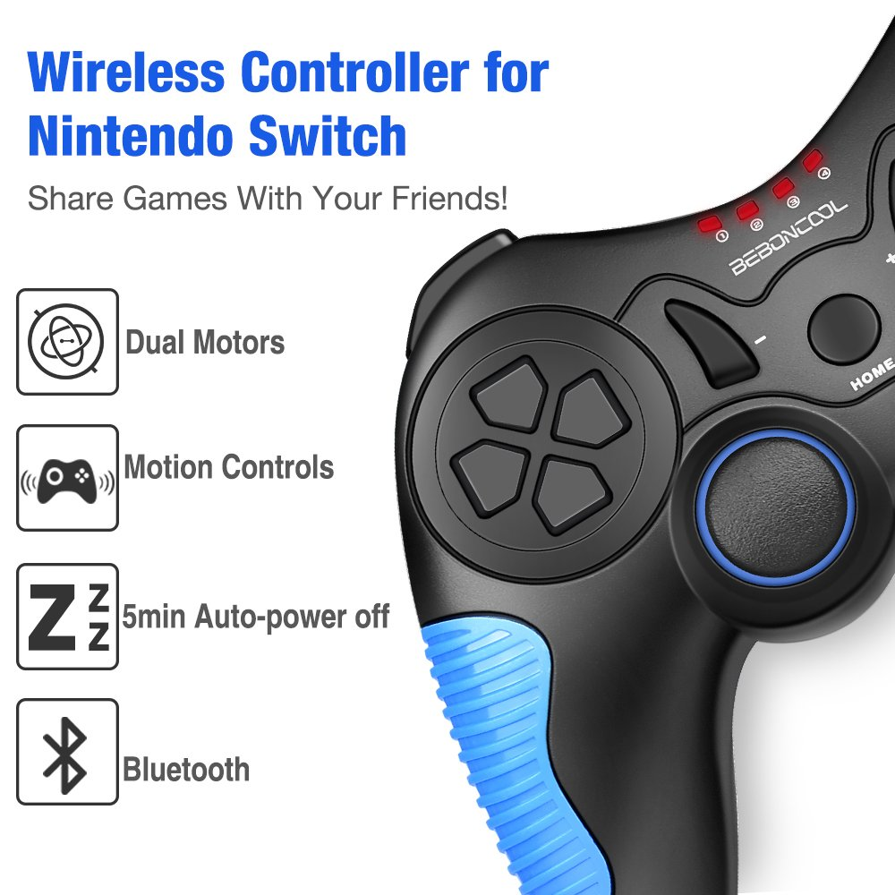 BEBONCOOL Wireless Controller for Nintendo Switch Pro Wii Controllers Accessories Splatoon 2 edition Xenoblade Chronic Super Smash bros