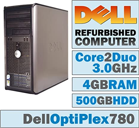 Dell Optiplex 780-250GB SATA Hard Drive Windows 10 Pro 64 Loaded