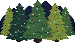 Cape Craftsmen Beautiful Seasonal Christmas Tree Forest Shaped Hook Rug - 42 x 24 Inches Fade and Weather Resistant Outdoor/Indoor Decoration for Homes, Yards and Gardens