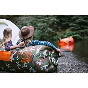 Chillbo Baggins Inflatable Lounge Bag Hammock Air Sofa and Pool Float Ships Fast! Ideal for Indoor or Outdoor Lamzac or Inflatable Lounger for Camping Picnics & Music Festivals