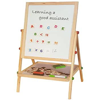 lado childrens black board magnetic white board double sided