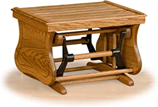 product image for Furniture Barn USA Rustic Oak Ottoman - All Oak - Amish Made