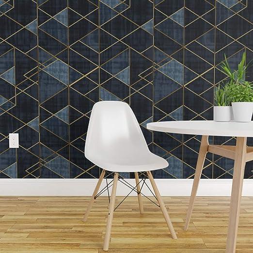 Spoonflower Non Pasted Wallpaper Geo Geometric Shapes Modern Boho