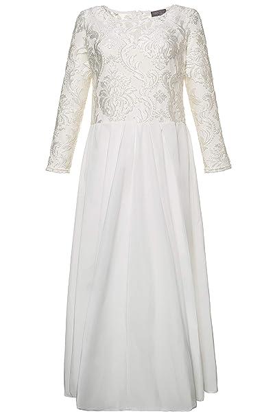 Ulla Popken Women\'s Plus Size Lace Taffeta Wedding Dress ...