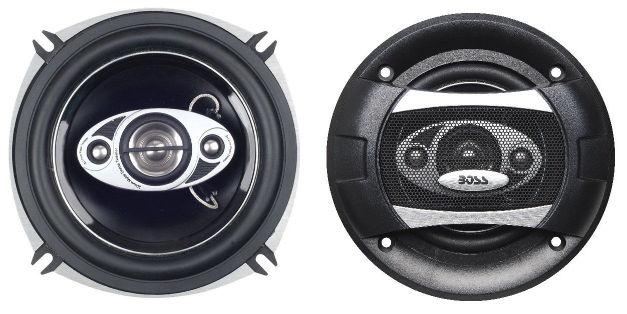 BOSS Audio P55.4C 300 Watt (Per Pair), 5.25 Inch, Full Range, 4 Way Car Speakers (Sold in Pairs)