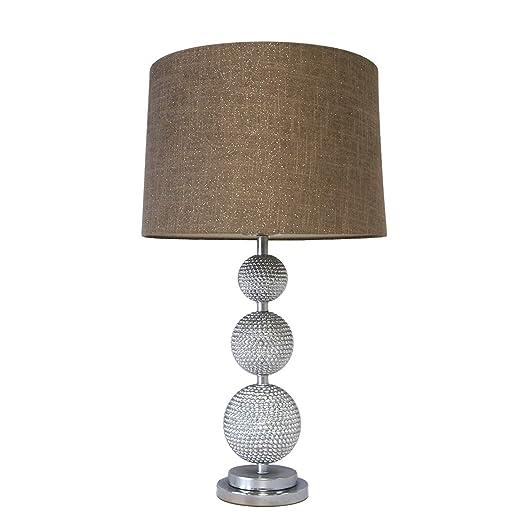 Amazon.com: Moderna lámpara de mesa de esferas plateadas ...