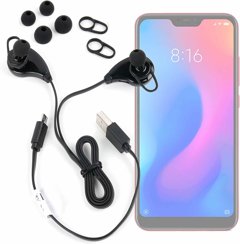 DURAGADGET Auriculares inalámbricos en Color Negro para Smartphone HAFURY UMAX, Huawei Honor 7S, Land Rover Explore, Xiaomi Redmi 6 Pro: Amazon.es: Electrónica