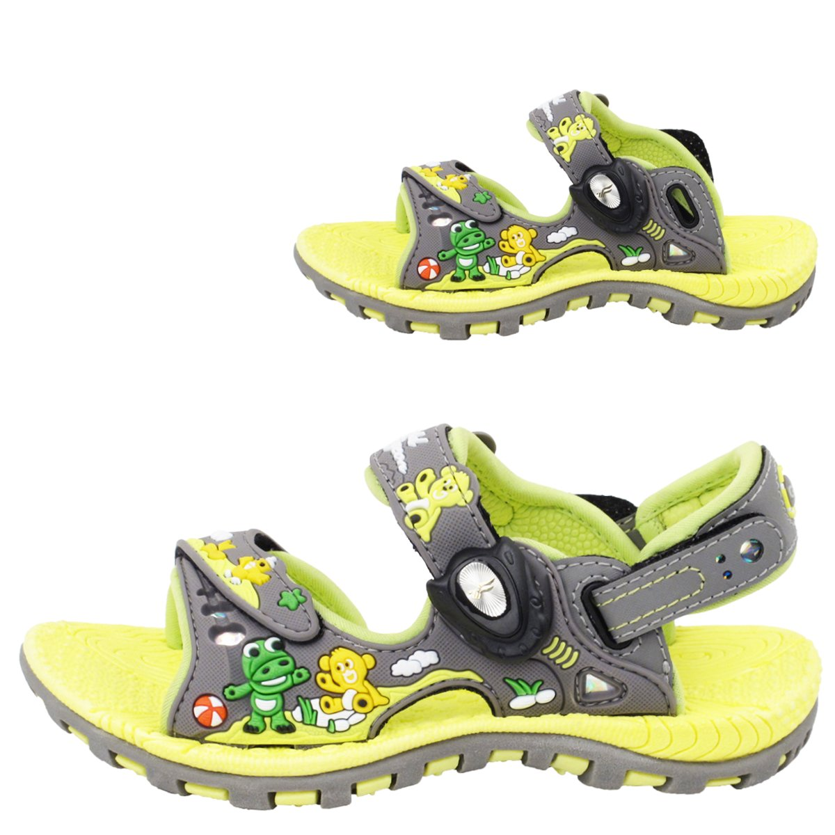 Gold Pigeon Shoes Signature Kids Easy SNAP LOCK Magnetic Closure Light Weight Outdoor Water Sandals (Size:T7.5-K6.5)