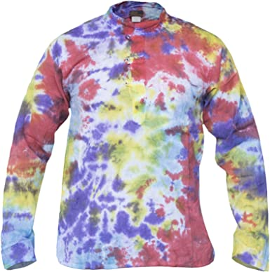 Gheri Hippie Camisa informal de algodón teñido anudado para ...