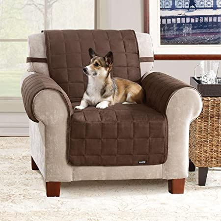 Gentil Chair Cover Recliners Slipcover Chair Protector For Pets Brown