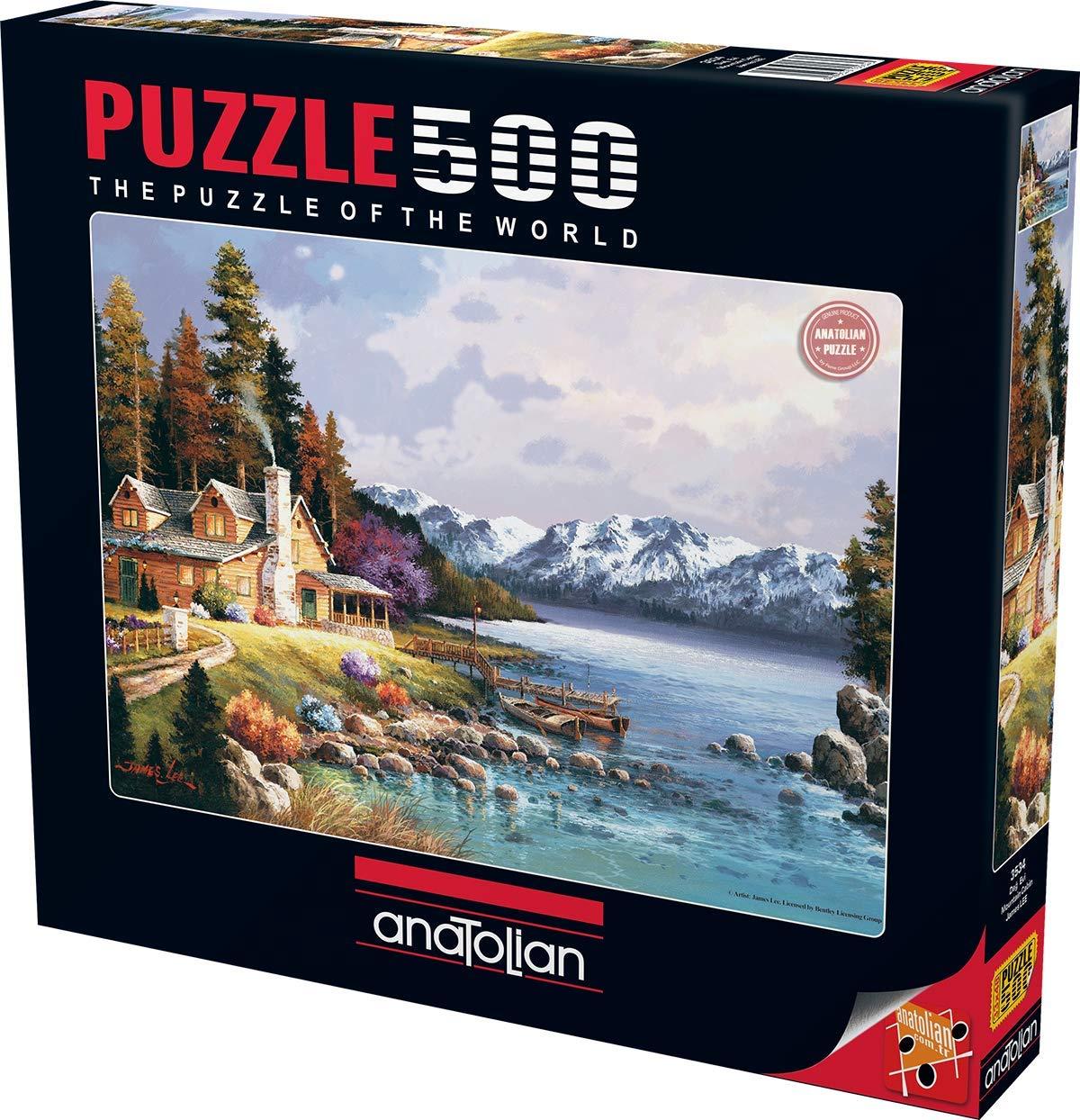 Anatolian 500 Piece Puzzle Mountain Cabin Puzzle