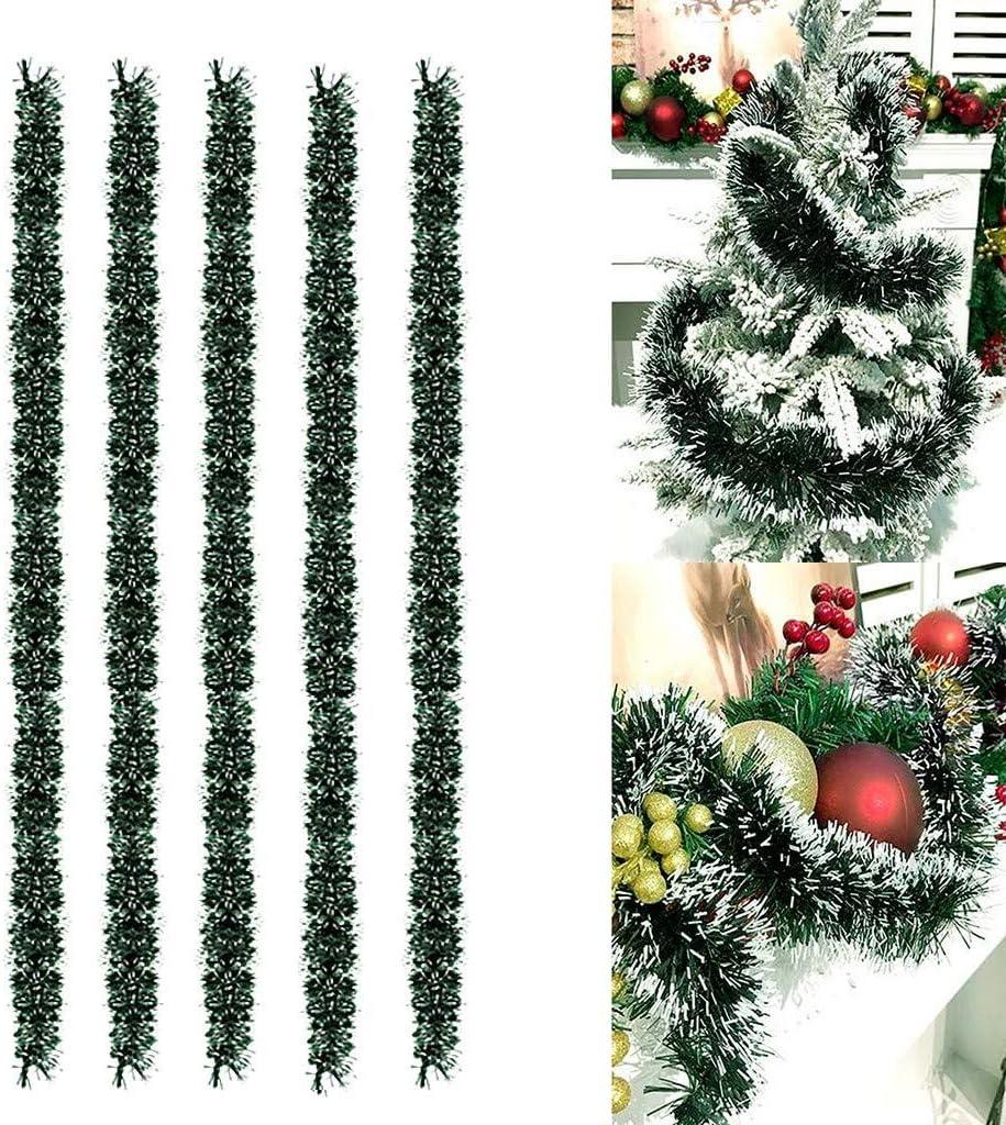 Sayla Weihnachten Dekoration Tannengirlande K/ünstliche Gr/ün Tannen Weihnachtsgirlande DIY Dekogirlande 2.7M Weihnachtsdeko f/ür Innen und Au/ßen