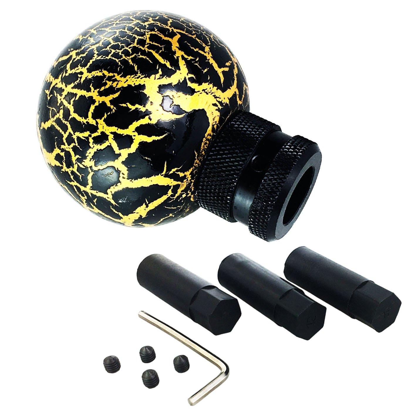 Black Lunsom Ball Shift Knob Resin Gear Transmission Shifter Car Shifting Stick Handle Head Fit Universal Automatic Manual Vehicle