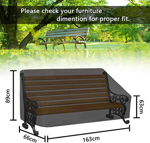 FOCHEA Funda Mesa Jardin 163 * 66 * 89 cm 420D Funda Muebles Impermeable Tela Oxford Anti-UV Fundas para Conjuntos de Muebles