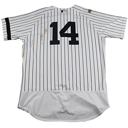 outlet store 23872 0134e Starlin Castro New York Yankees Game Used #14 Pinstripe ...
