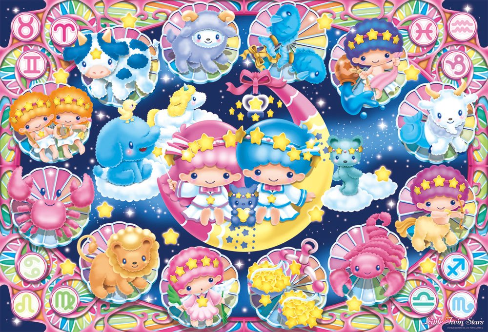 Barato 12 constellations 31-408 of 1000 Pisukiki  Lara Little Twin Stars (japan import)